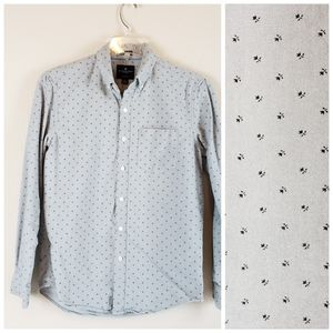 AEO| Mens Floral Classic Fit Button Down Shirt